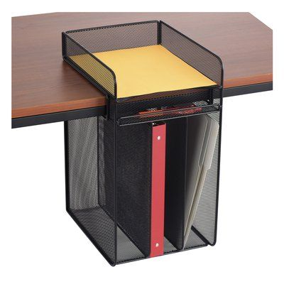 Mesh Horizontal Hanging Desk Storage | Desk storage, Desktop organization,  Hanging storage