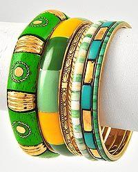 green bangle set!! $18.00