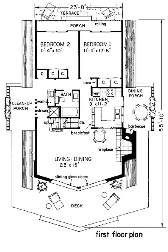 Pleasant A Frame Cabin Contemporary House Plan 43048 Pinterest Lakes Largest Home Design Picture Inspirations Pitcheantrous