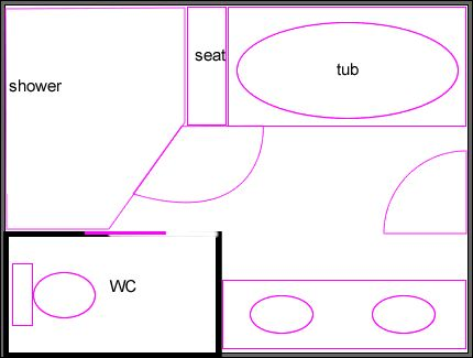 12 x 12 bathroom layout yikes run out of room with 9x12 for Bathroom designs 9 x 5