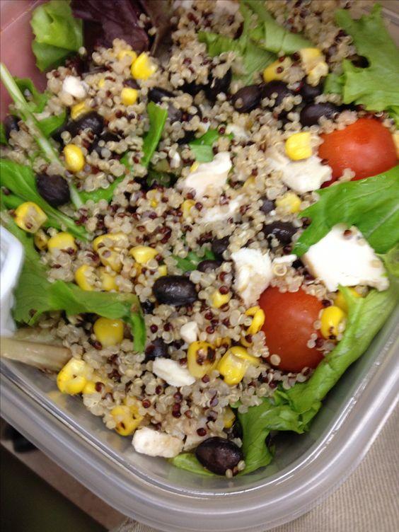 Salad bowls, Quinoa salad and White quinoa on Pinterest