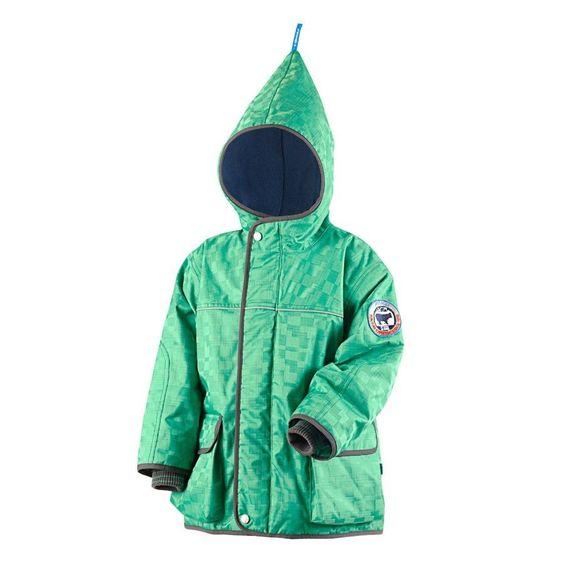 New Finkid Skijacket winter parka - Zwergen TALVI FROST - frog/elephant