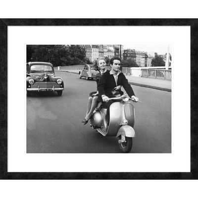 Global Gallery 'On Motorscooter' Framed Photographic Print Size: