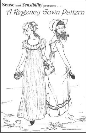 This is the extremely popular pattern that has spawned a thousand gowns. It goes together very easily and the Sense & Sensibility website offers plenty of advice and sewing support. There is also the licensed Simplicity version, which can be picked up very cheaply on sale in fabric stores.