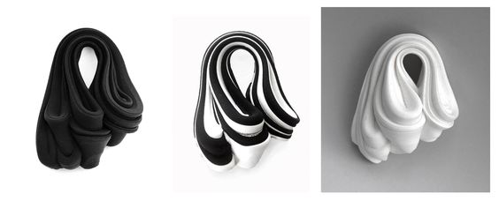 Christine Jalio  I am honored to have some of my black, white and black&white pieces shown in Rome at gallery MyDay ByDay