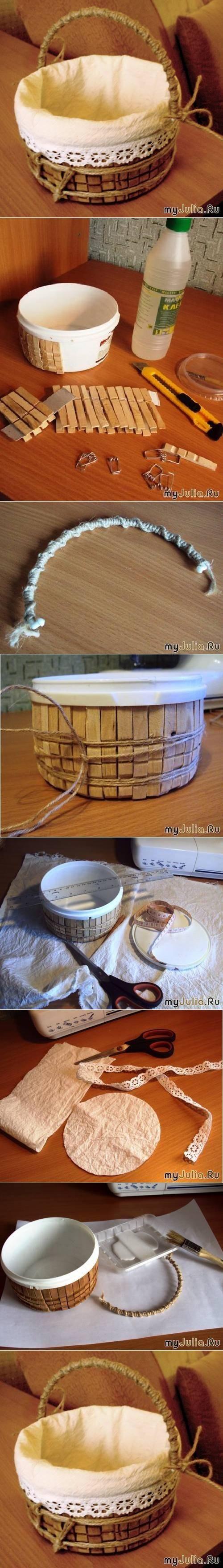 un vieux seau quelques pingles linge en bois de la grosse ficelle du tissus et une belle. Black Bedroom Furniture Sets. Home Design Ideas