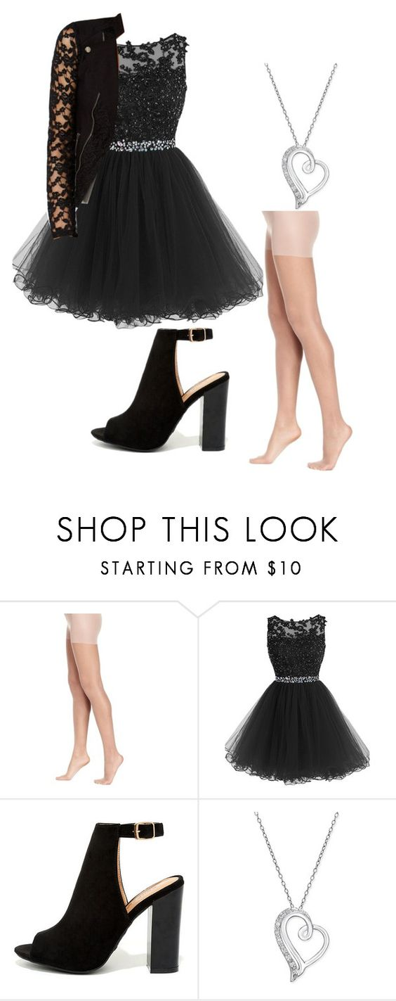 """""""Homecoming #1"""" by samantha1-a ❤ liked on Polyvore featuring Hue, Bamboo and Material Girl"""