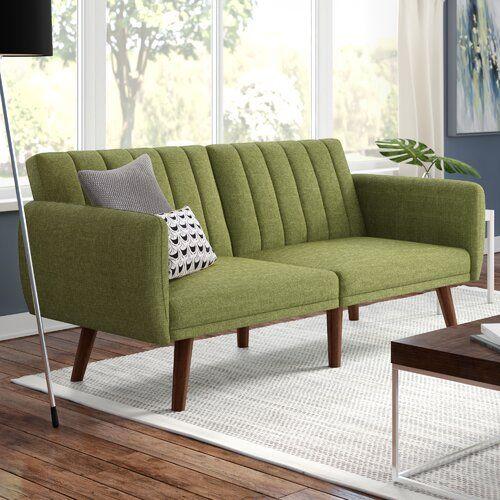 Fynn 42 Round Arm Modern Convertible Sofa Furniture Sofa Furniture