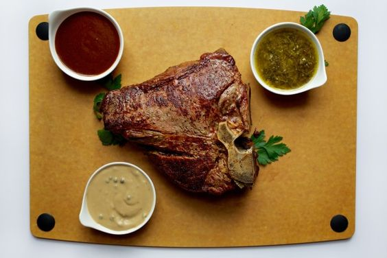 Two step pan broiled double thick steak | steak | Pinterest | Steaks ...