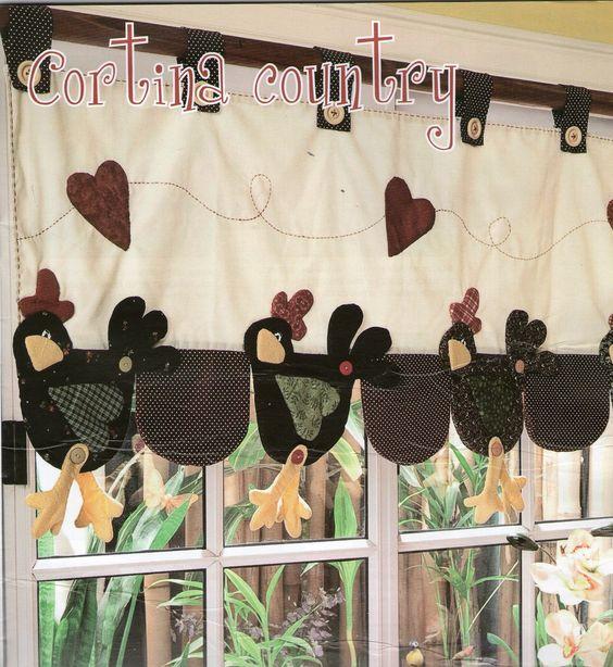 cortina country, para cocina