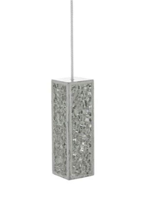 Next resin silver crackle sparkle mirror glitter bathroom for Bathroom light pull
