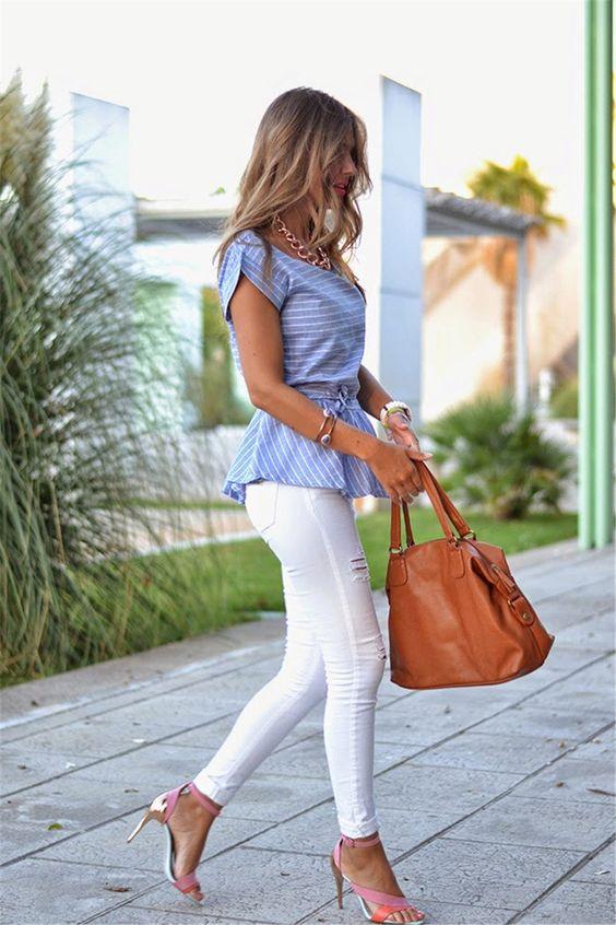 Женская голубая рубашка (112 фото): с чем носить и сочетать рубашку голубого цвета, светло-голубую, в горошек, модные образы