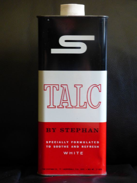 Stephan White Talc Tin - 7 Inches Tall - Clean Empty Collectible Tin - Original Shake Top - Clean - Shows Areas of Age - No Talc - Colorful by ChicAvantGarde on Etsy
