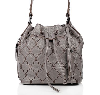 "orYANY ""Kyra"" Leather Bucket Bag cool tassel attachment"
