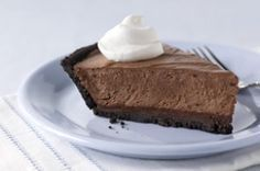 Chocolate Cream Pie-This is a delicious recipe that is also healthy. It is a low calories, low fat, low cholesterol, low carbohydrates, low sodium, low sugars, WW (4) PointsPlus+ and a diabetic recipe. A creamy chocolate filling in a chocolate crust.