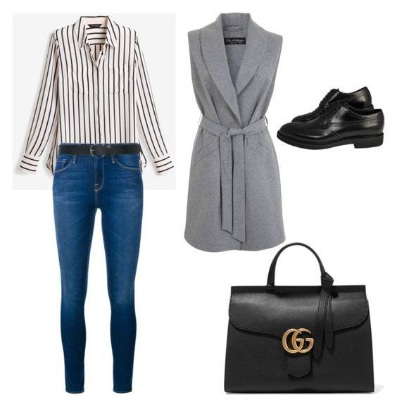 Untitled #186 by filomenamaria on Polyvore featuring polyvore fashion style White House Black Market Miss Selfridge Frame Denim Gucci M&Co clothing