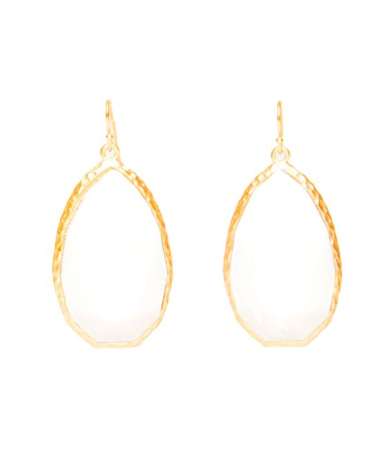 Express a strong statement when you wear this fanciful teardrop-shape earrings with your elegant evening dress. Tear drop earrings with large faux crystal stone and fish hook back.