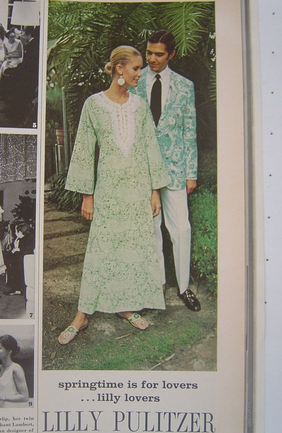 Vintage 1971 Lilly Pulitzer (w/Jack Rogers) Vogue Magazine Ad