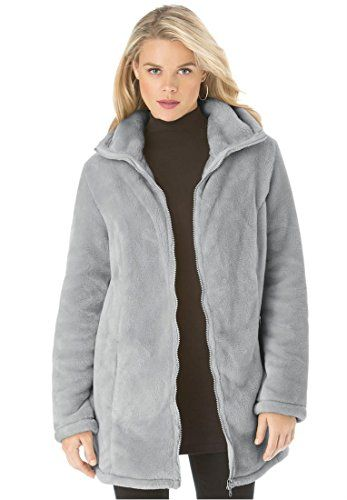 Fashion Bug Women&39s Plus Size Teddy Fleece Coat bbw www