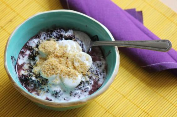 texture oatmeal the breakfast coconut cream breakfast and brunch black ...