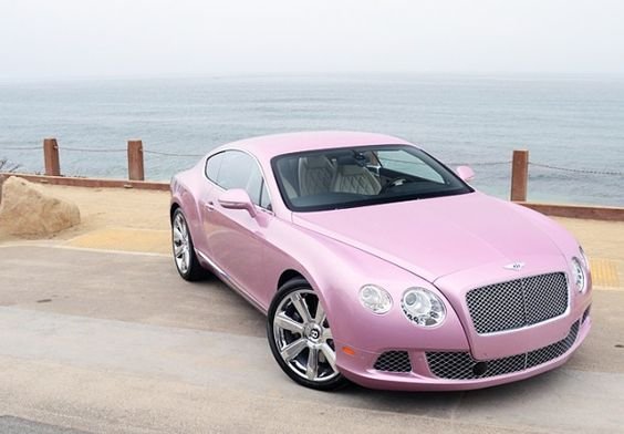Pink Bentley Continental Gt ~ Yes Please :)