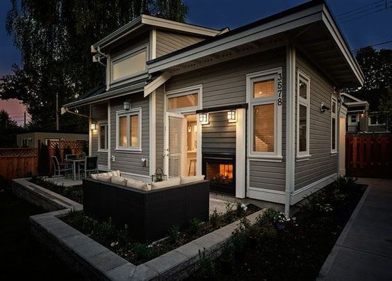 This 750 Square Foot Custom Laneway House Has A Spacious Open Floor Plan With 1 Bedroom And 2 Small Cottage House Plans Small Cottage Homes Cottage House Plans