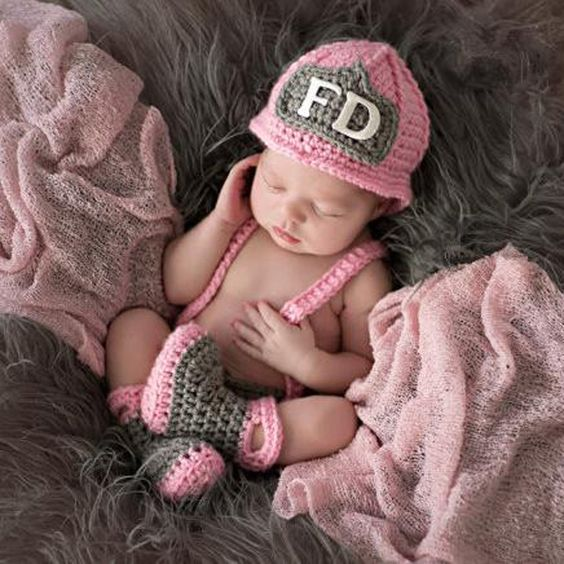 Check out one of our new  Newborn Baby Girl..., Just in and ready to order @ http://scooterbug-designs.myshopify.com/products/newborn-baby-girl-fireman-firefighter-crochet-outfit-set?utm_campaign=social_autopilot&utm_source=pin&utm_medium=pin