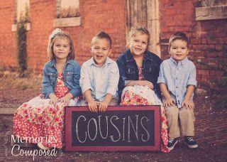 Cute idea for cousins photo session.
