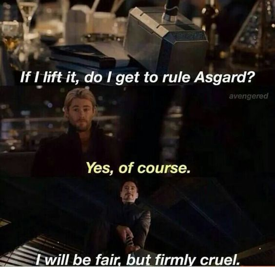 And thats how Tony became the ruler of Asgard :D