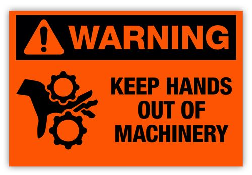 Warn Your Employees To Keep Hands Out Of Dangerous Areas Of