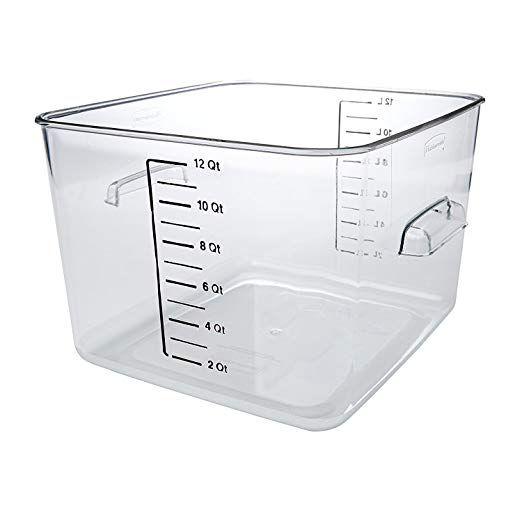 Amazon Com Rubbermaid Commercial Fg630400clr Polycarbonate 1 Gallon Space Saving Storage Conta Food Storage Containers Food Storage Kitchen Storage Containers