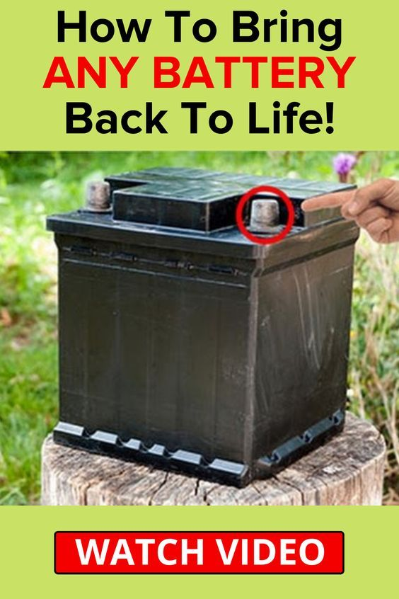 Dead Simple Way To Bring Old Batteries Back To Life Instead Of Having To Buy New Ones Dead Car Battery Repair Battery Repair