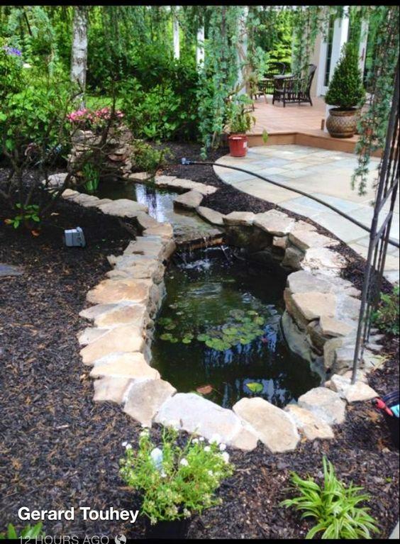 Beautiful backyard pond.