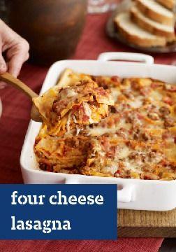 Four Cheese Lasagna | Pasta Recipes | Pinterest | Cheese Lasagna ...