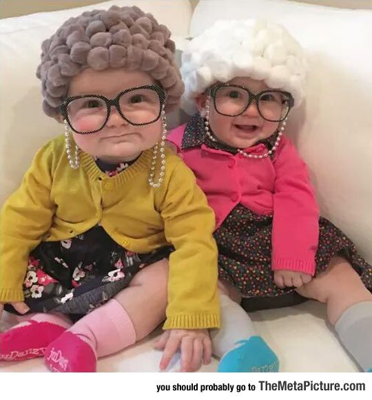 These babies are soooo cute! If I'll ever have children, I will probably always make them wear granny hair <3