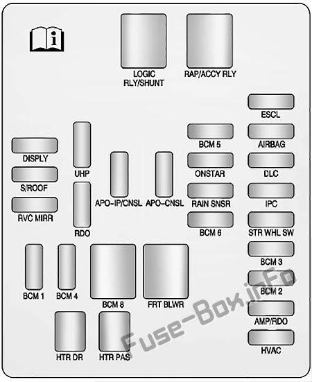pin on cadillac srx (2010-2016) fuses and relays cadillac srx fuse box 2011 cadillac srx pinterest