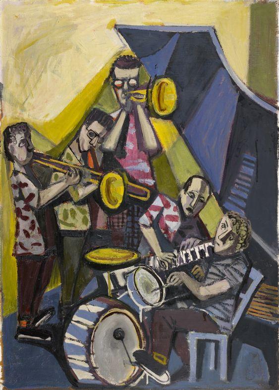Otto Dix, Jazzkapelle, 1954