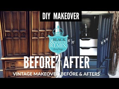 Before After Diy Vintage Armoire Makeover Into A Bar Youtube