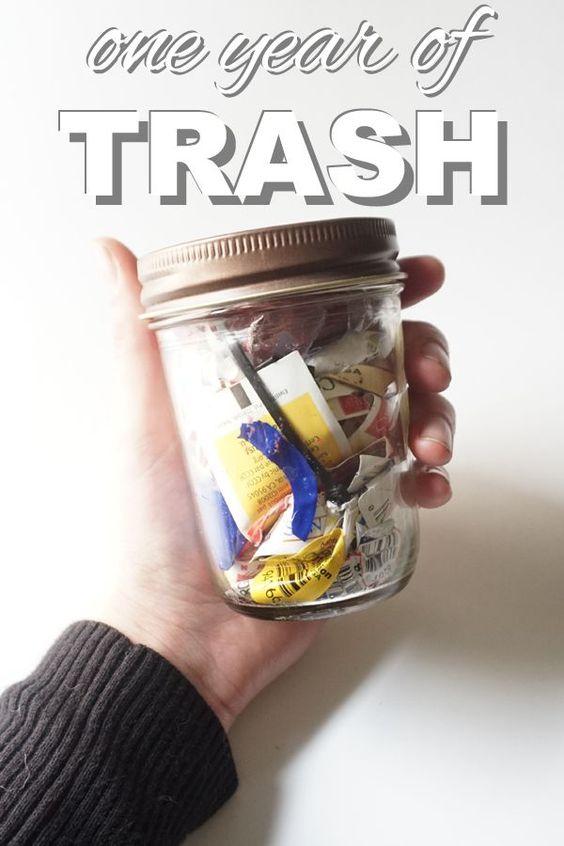 Zero Waste: one year of trash with www.goingzerowast...