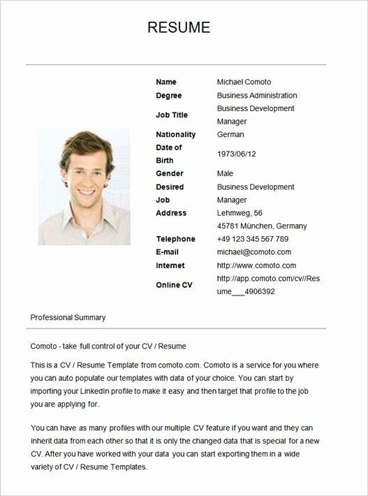 Basic Resume Template Examples Luxury Simple Resume Template In 2020 Job Resume Examples Job Resume Format Basic Resume Format