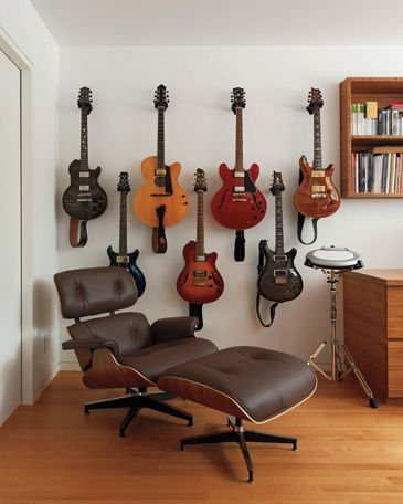My husband's guitars are gorgeous. Looking for a secure, attractive way to display them.