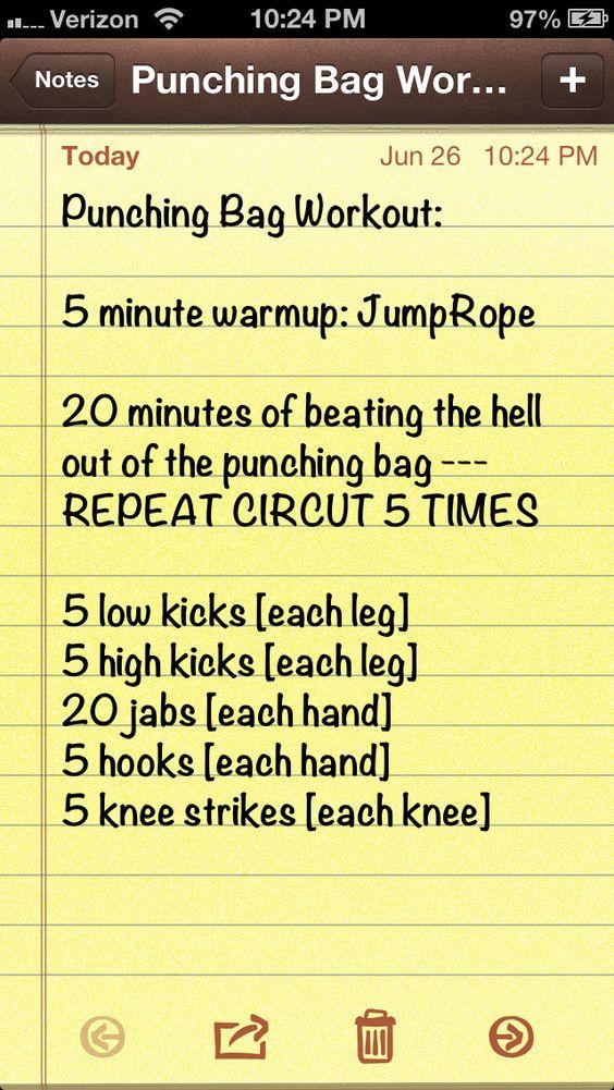 Punching bag workout :)