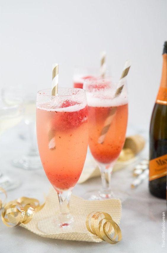 Strawberry Sorbet Bellini