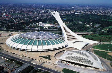 Le stade olympique de Montréal, construit pour les Jeux olympiques d'été de 1976, est un stade omnisports conçu par l'architecte français Roger Taillibert et muni, selon les plans originaux, d'un toit rétractable, il est actuellement le plus grand stade du Canada. Demeure des Expos de Montréal de 1977-2004.