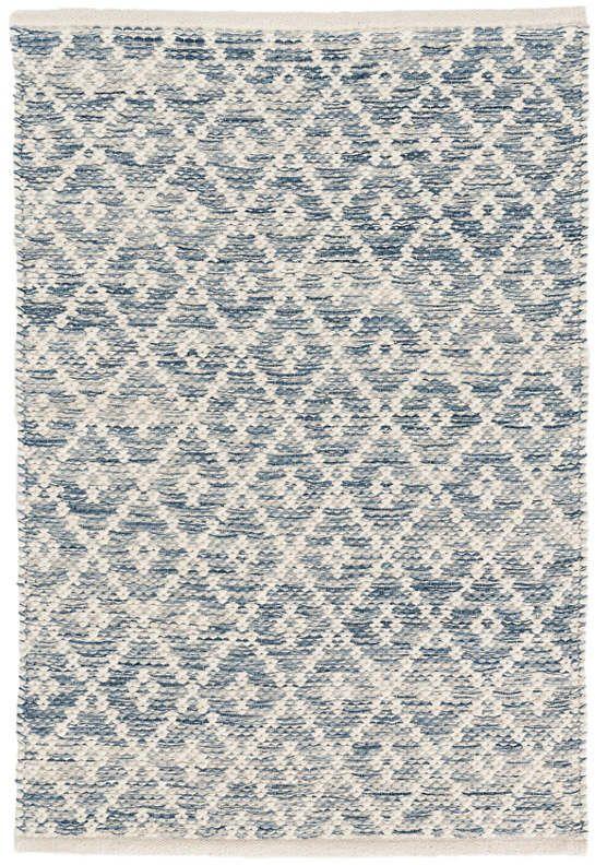 Melange Diamond Blue Woven Cotton Rug Dash Albert Rugs On Carpet Cotton Rug Solid Rugs
