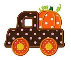 Pumpkin Truck Applique - 3 Sizes! | What's New | Machine Embroidery Designs | SWAKembroidery.com Dollar Applique