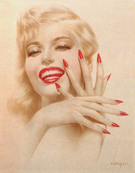 Marilyn Monroe portrait by Alberto Vargas