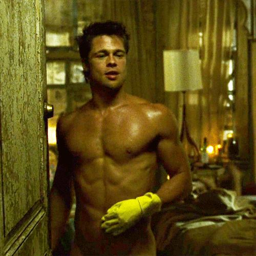 Image result for Brad Pitt Fight Club GIFS