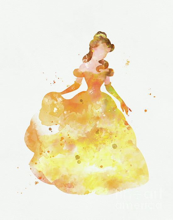 Belle By Monn Print Watercolor Disney Disney Paintings Disney