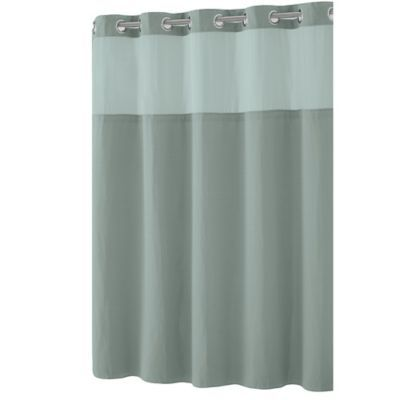 Hookless Waffle 71 Inch X 86 Inch Fabric Shower Curtain In Jade